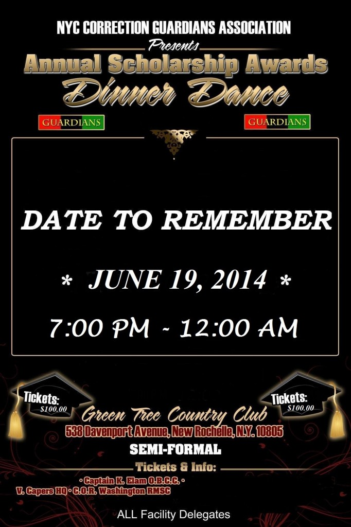 2014 Save The Date Dinner Dance Poster (1)