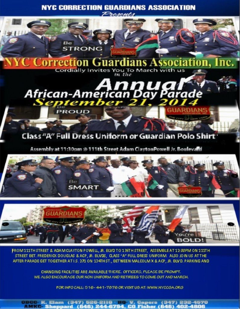 2014 African American Day Parade Poster